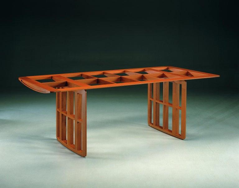 Aero, Contemporary Table or Desk in Maple Wood, Design Franco Poli For Sale 1