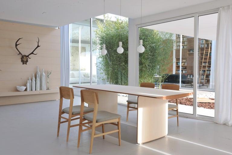 Aero, Contemporary Table or Desk in Maple Wood, Design Franco Poli For Sale 2
