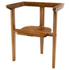 Aerofina Armchair, Contemporary Three-Legged Chair with Mortise-Tenon Joinery