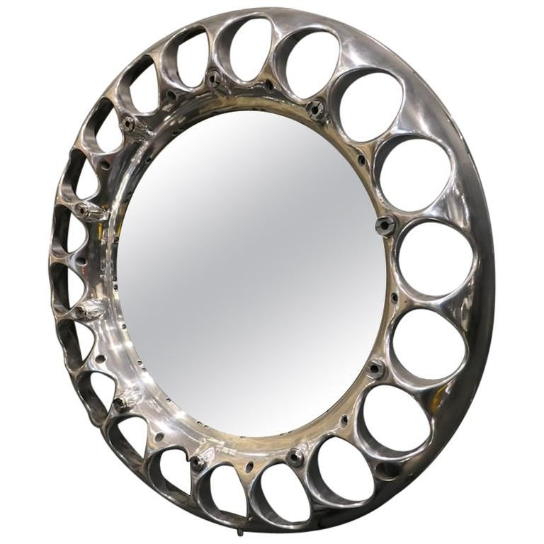 Aeronautical Mirror from an ATAR 9C Reactor Used on French Mirage For Sale