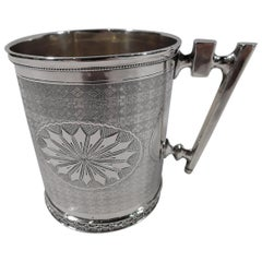 Aesthetic Classical Coin Silver Baby Cup by Northwestern of Chicago
