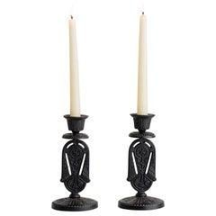 Aesthetic Iron Candlesticks