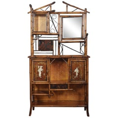 Aesthetic Movement Bamboo and Lacquer Cabinet