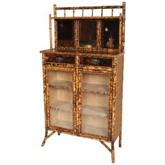 Aesthetic Movement Bamboo and Lacquer Chiffonier