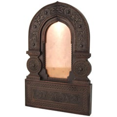 Aesthetic Movement Carved Wood Moorish Style Picture Frame