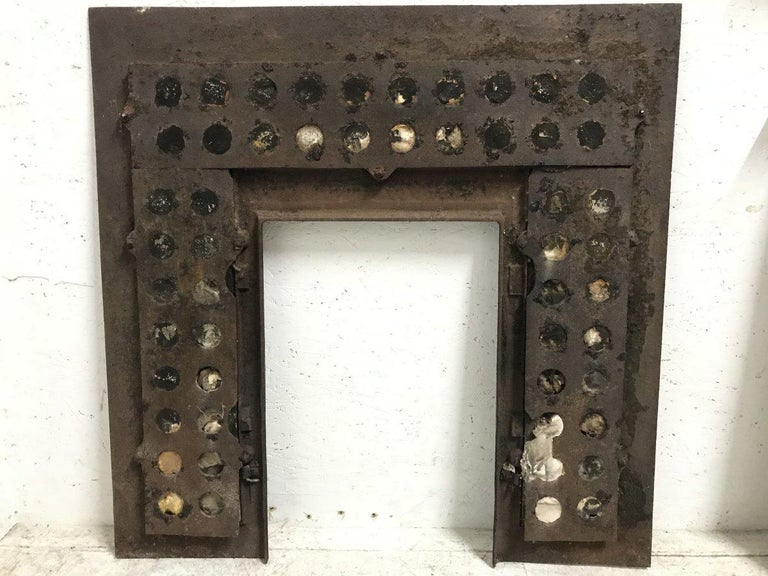 English Aesthetic Movement Cast Iron Fire Insert with Original Maw & Co Tiles For Sale 15