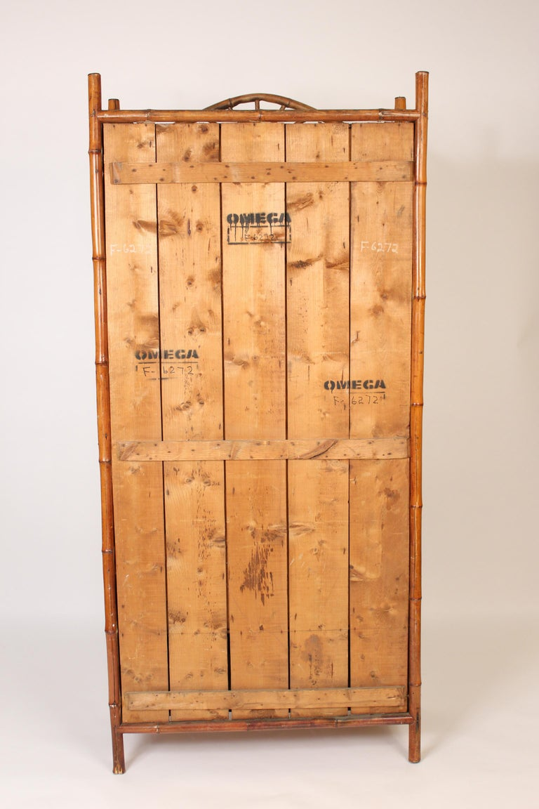 Aesthetic Movement Chinoiserie Decorated Bamboo Armoire 5