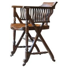 Aesthetic Movement Desk Chair in the Manner of Christopher Dresser