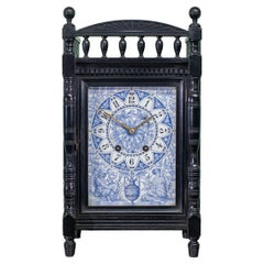 Aesthetic Movement Ebonised Mantel Clock Attributed to Lewis Foreman Day