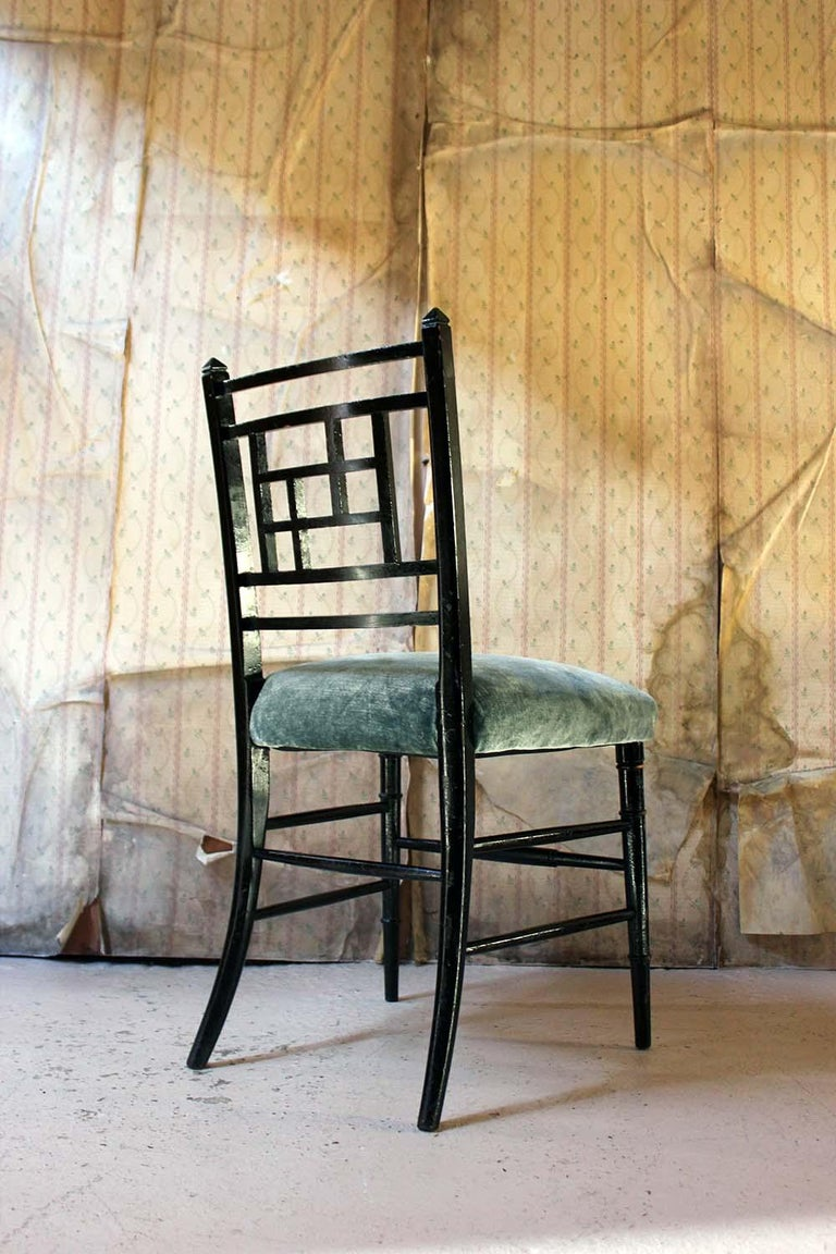 Aesthetic Movement Ebonized Side Chair in the Manner of E.W. Godwin For Sale 4