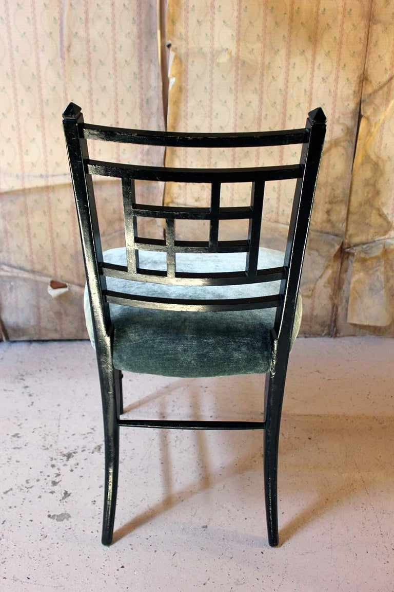 Aesthetic Movement Ebonized Side Chair in the Manner of E.W. Godwin For Sale 6