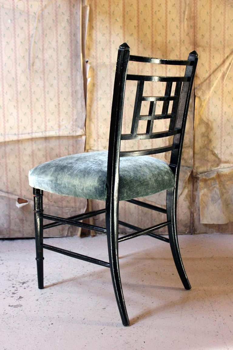 Aesthetic Movement Ebonized Side Chair in the Manner of E.W. Godwin For Sale 7