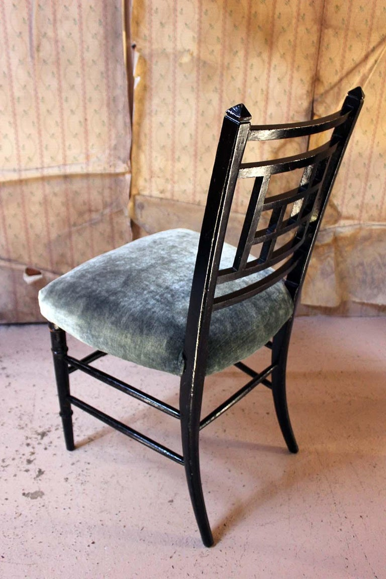 Aesthetic Movement Ebonized Side Chair in the Manner of E.W. Godwin For Sale 8