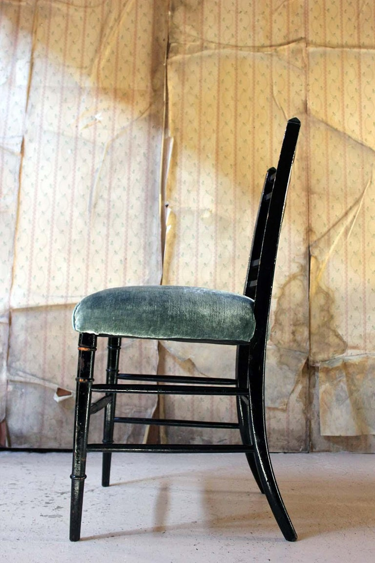Aesthetic Movement Ebonized Side Chair in the Manner of E.W. Godwin For Sale 9