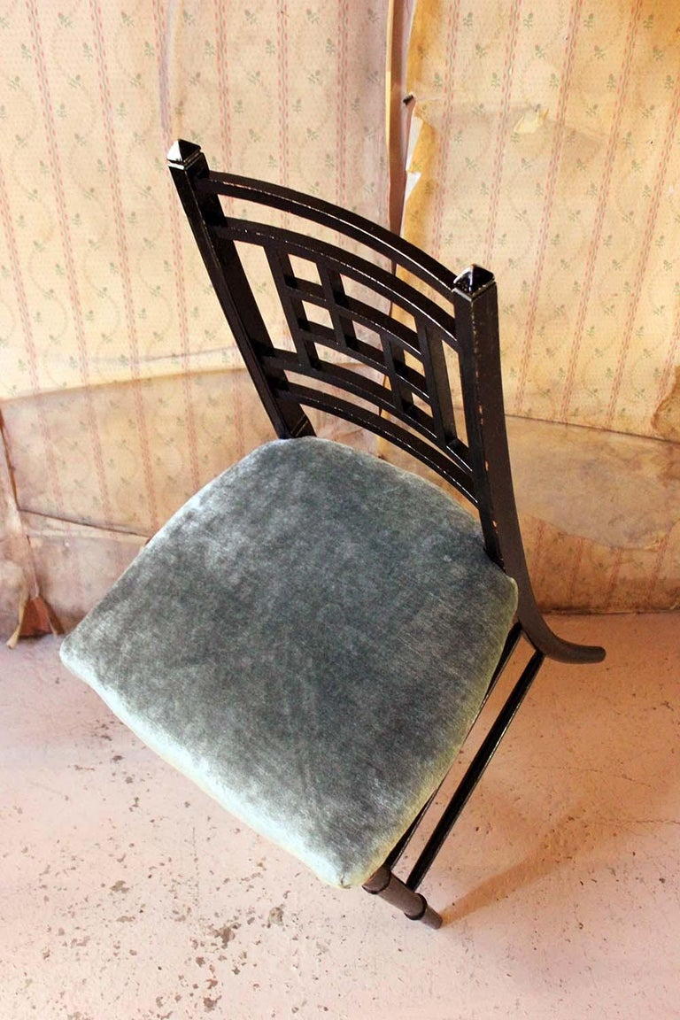 Aesthetic Movement Ebonized Side Chair in the Manner of E.W. Godwin For Sale 10