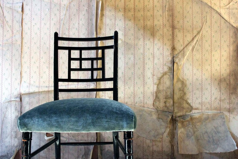 English Aesthetic Movement Ebonized Side Chair in the Manner of E.W. Godwin For Sale