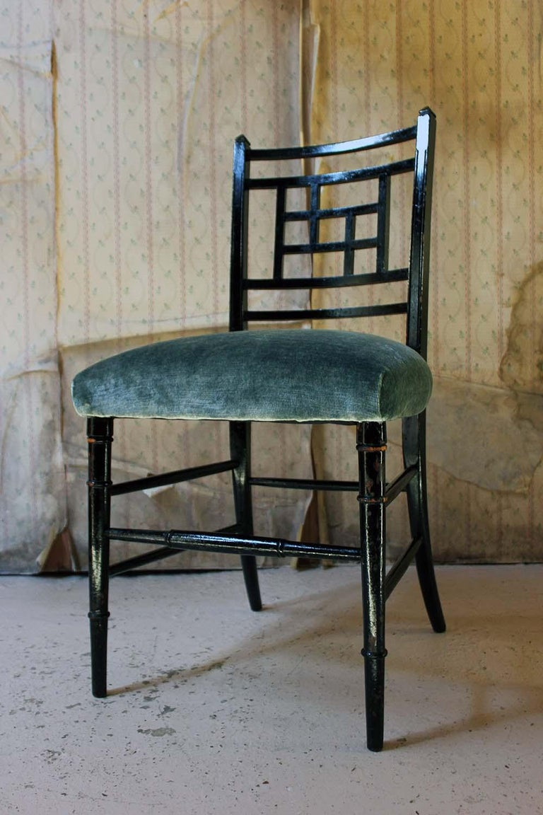 Aesthetic Movement Ebonized Side Chair in the Manner of E.W. Godwin For Sale 1