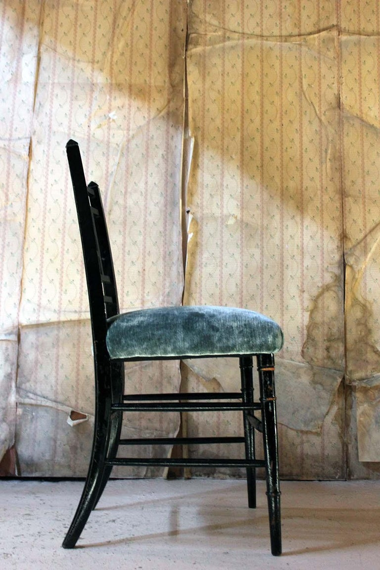 Aesthetic Movement Ebonized Side Chair in the Manner of E.W. Godwin For Sale 3