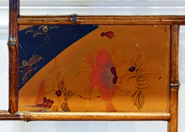Aesthetic Movement English Chinoiserie Bamboo and Lacquer Étagère, 19th Century For Sale 7
