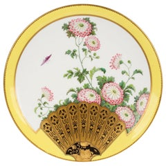 Aesthetic Movement Japanesque Cabinet Plate Attributed to Christopher Dresser