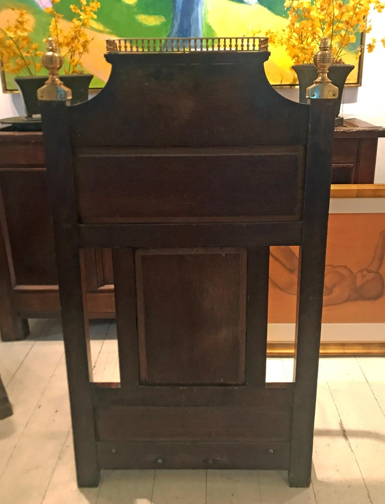 Aesthetic Movement Oak and Brass Umbrella Hall Stand For Sale 2