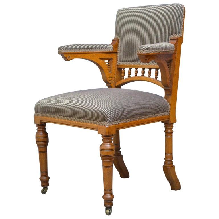 Miraculous Aesthetic Movement Oak Desk Chair Pabps2019 Chair Design Images Pabps2019Com