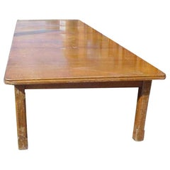 Aesthetic Movement Oak Dining Table Designed as Two Fitted Together
