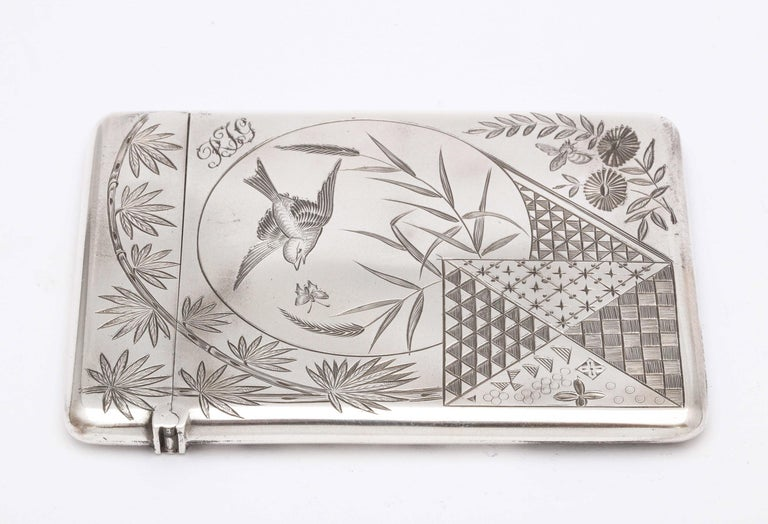 Aesthetic Movement Sterling Silver Calling/Business Card Case by George Unite For Sale 5