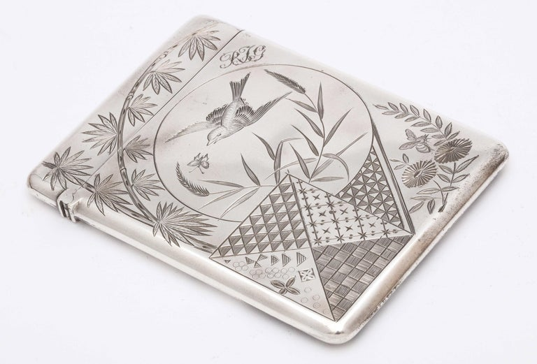 Aesthetic Movement Sterling Silver Calling/Business Card Case by George Unite For Sale 6