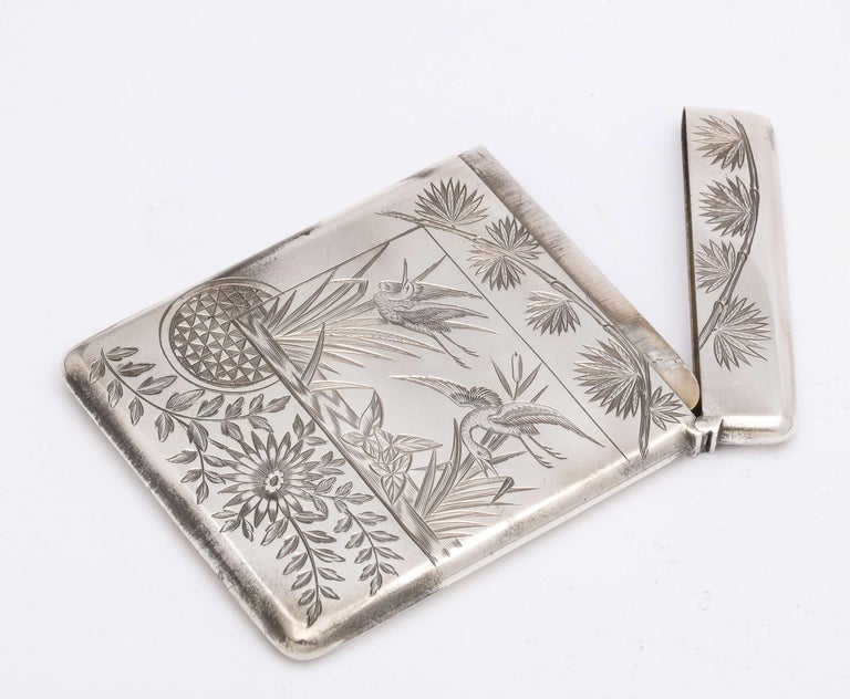 Aesthetic Movement Sterling Silver Calling/Business Card Case by George Unite For Sale 9