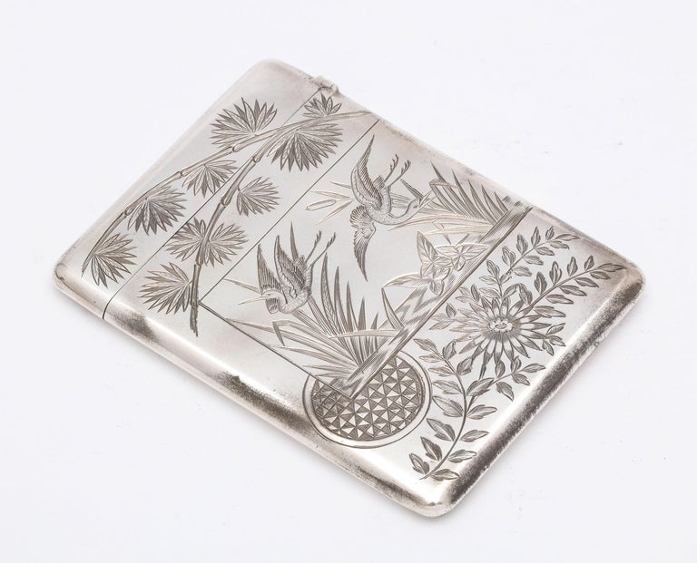 Aesthetic Movement Sterling Silver Calling/Business Card Case by George Unite For Sale 10