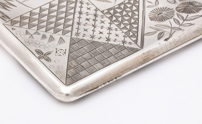 Aesthetic Movement Sterling Silver Calling/Business Card Case by George Unite For Sale 12