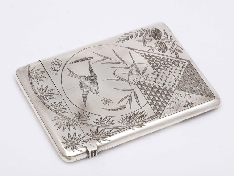 Aesthetic Movement Sterling Silver Calling/Business Card Case by George Unite For Sale 4