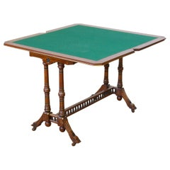 Aesthetic Movement Walnut Card Table