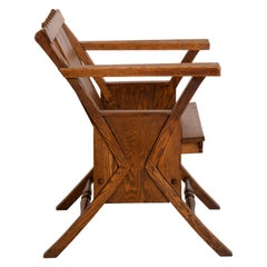 Aesthetic Movement Wood Deck Chair