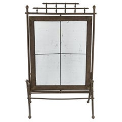 Aesthetics Movement Bronze Faux Bamboo Fire Screen