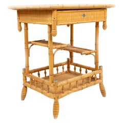 Aesthetics Movement Faux Bamboo Side Table