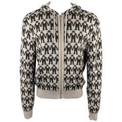 AESTHETICTERRORISTS by WALTER VAN BEIRENDONCK Size XL Grey & Charcoal Jacket