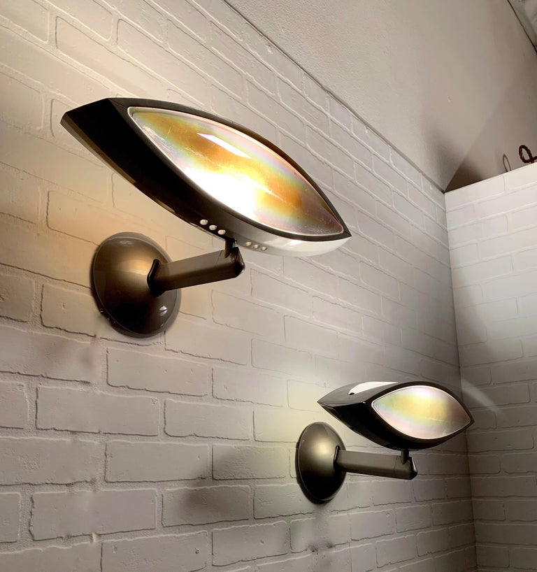 Metal 'Aeto' by Fabio Lombardo Sconces For Sale