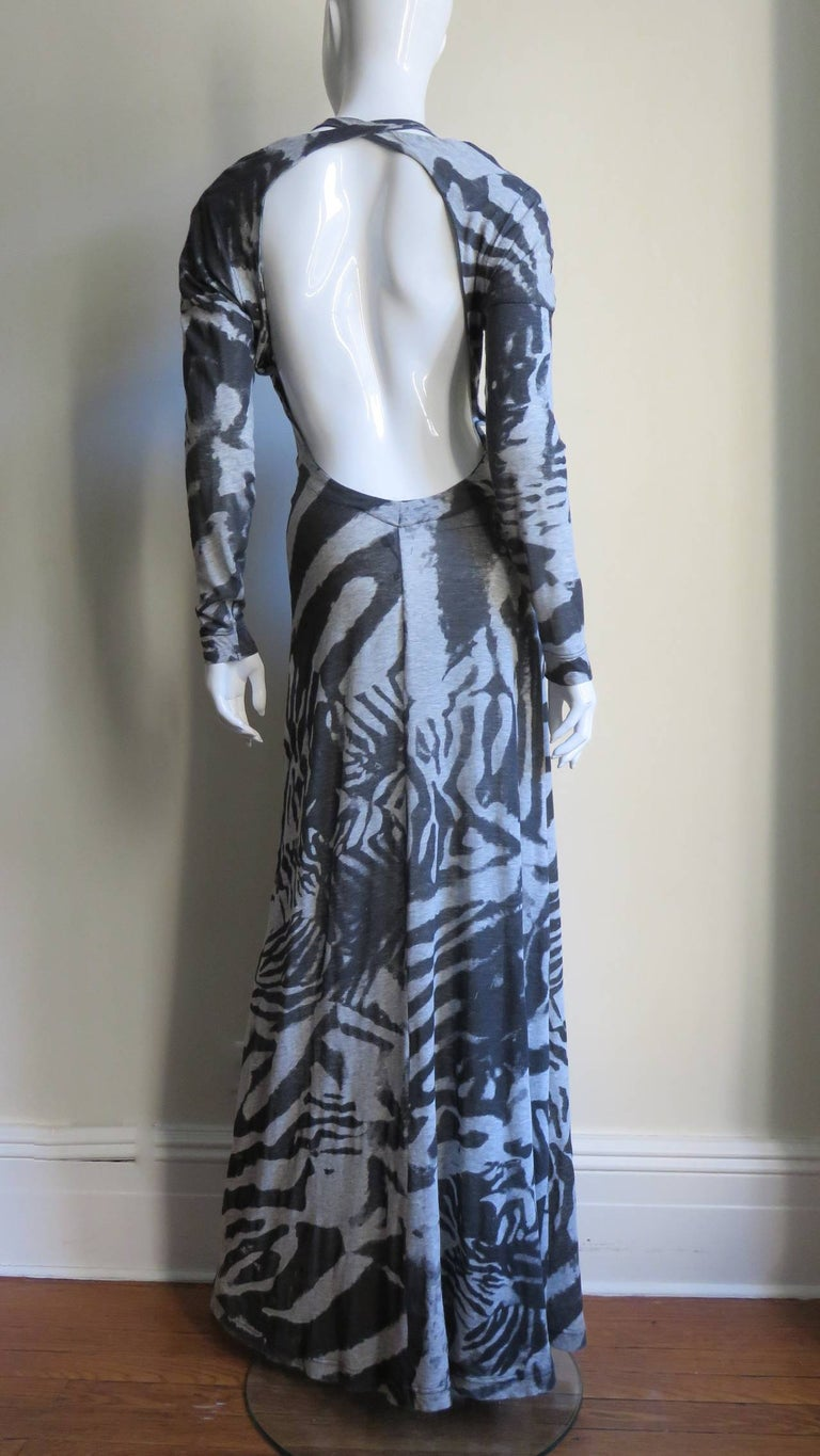 Aexander McQueen Backless Maxi Dress For Sale 4