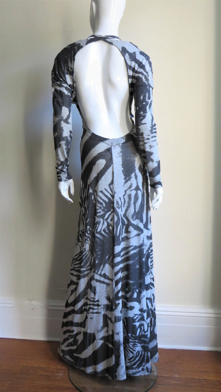 Aexander McQueen Backless Maxi Dress For Sale 8