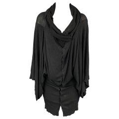 A.F. VANDERVORST Size S Black Viscose / Polyester Knitted Oversized Cardigan