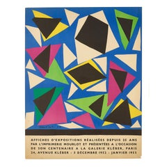 Affiches D'Expositions Réalisées Depuis 25 Ans par L'Imprimerie Mourlot, 1952