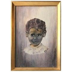 Afghan Boy, Oil Painting by Danish Artist P. Rüd, 1990s