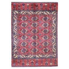Afghan Ersari Tekke Bokhara Design Pure Wool Hand Knotted Oriental Rug