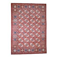 Afghan Ersari Tekke Bokhara Pure Wool Hand Knotted Oriental Rug
