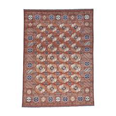 Afghan Ersari Tekke Bokhara Pure Wool Hand Knotted Rug