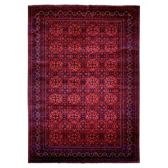 Afghan Khamyab Natural Dyes Pure Wool Hand Knotted Oriental Rug
