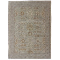 Afghan Khotan Rug with All-Over Geometric Pattern