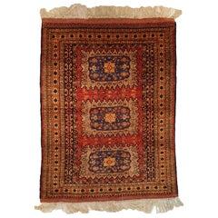 Afghan Silk Rug, 20th Century
